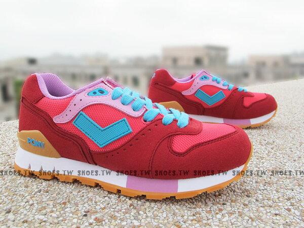 《超值5折》Shoestw【52W1MK61RD】PONY MARK8 復古慢跑鞋 內增高  Cold Stone 冰淇淋 草莓紅