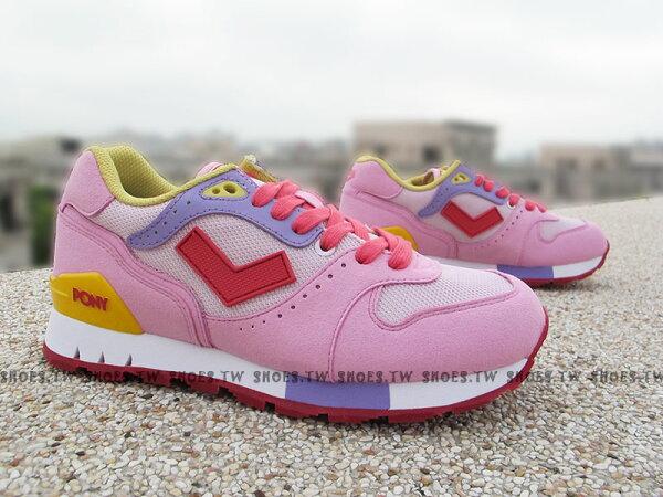 《超值5折》Shoestw【52W1MK61PK】PONY MARK8 復古慢跑鞋 內增高  Cold Stone 冰淇淋 草莓牛奶