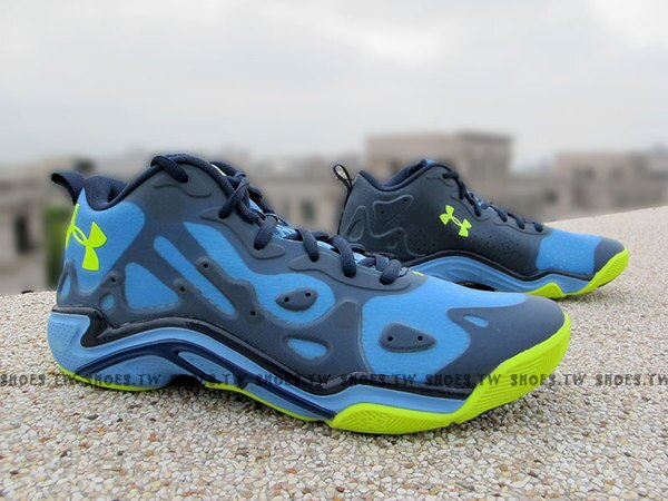 Shoestw【1252477-475】UNDER ARMOUR UA 籃球鞋 Stephen Curry 低筒 水藍