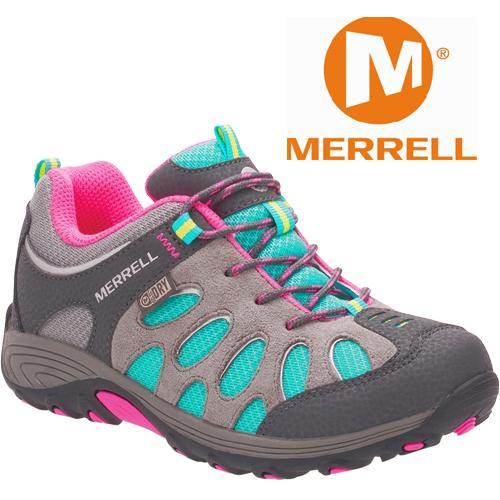 Merrell 兒童登山鞋/小朋友爬山/防水透氣越野鞋/健行鞋 Chameleon MLC55609 藍灰粉