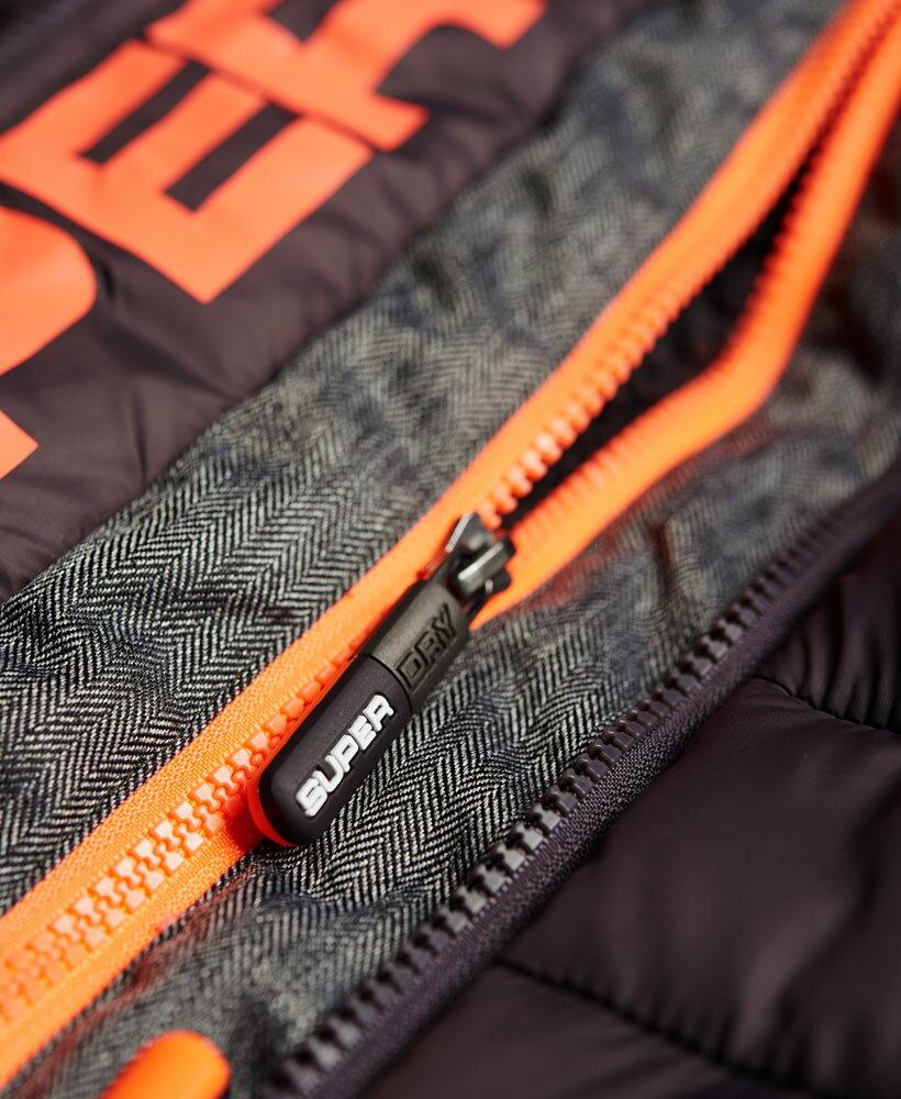 英國代購 極度乾燥 superdry Fuji MIX 男士保暖 拼接內鋪絨休閒雪地加厚夾克外套 灰色 4