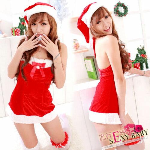 聖誕節跑趴聖誕服貼身禮服式聖誕裝~流行E線F009