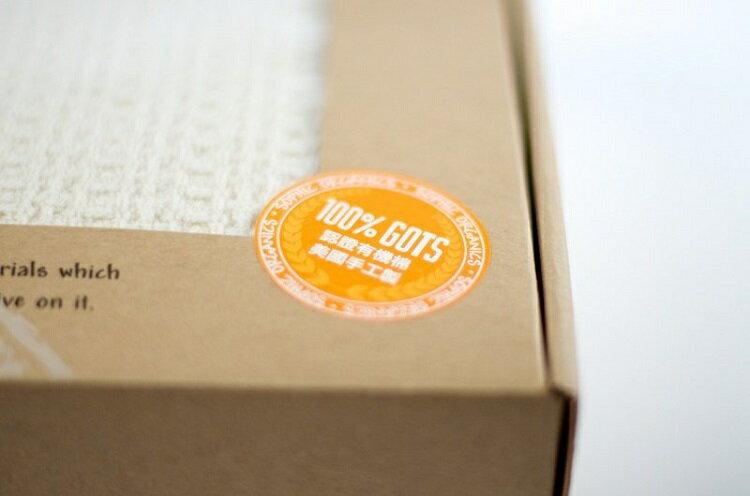 【安琪兒】美國Sophic Organics柔軟兒童有機棉毛線被毯 Waffle Natural 2