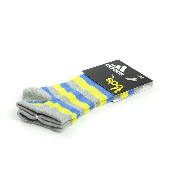 adidas Sport 舒適 好穿 柔軟 棉 彈性纖維 襪 灰藍 noB36