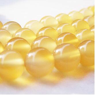 [黃玉髓]天然寶石 8mm圓形珠 diy飾品散珠 - 限時優惠好康折扣