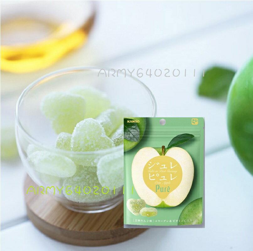 有樂町進口食品 甘樂Pure青蘋果軟糖63g J45 4901351059326 2