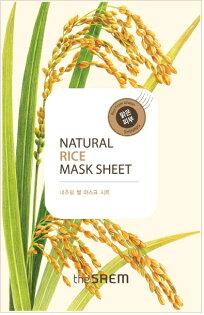 韓國the SAEM Natural 美顏稻米面膜 21ml Natural Rice Mask Sheet (New)【辰湘國際】