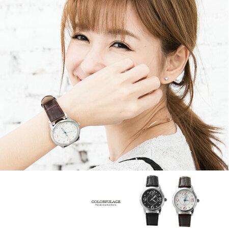 Valentino范倫鐵諾 大數字奧地利水鑽真皮手錶腕錶 情人對錶 柒彩年代【NE1089】原廠公司貨 單支 - 限時優惠好康折扣