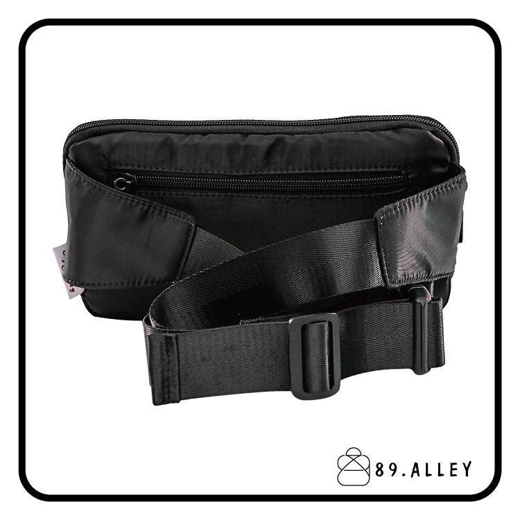 腰包 單肩包 女包男包 黑色系防水包 輕量尼龍雙層情侶防搶包 89.Alley 3