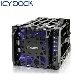 ICY DOCK 3.5吋四轉三抽取盒-MB074SP-1B