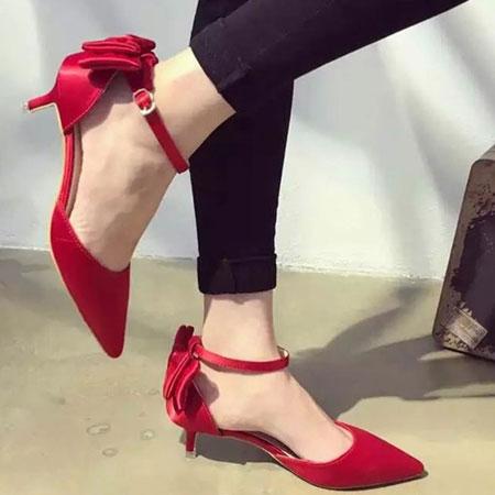高跟鞋 優雅LADY緞面蝴蝶結尖頭跟鞋【S1589】☆雙兒網☆ 4