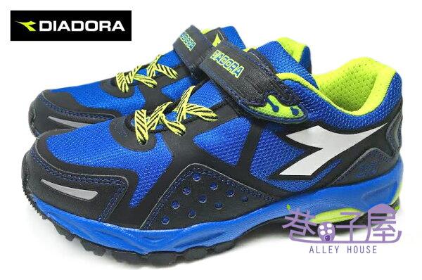 【巷子屋】義大利國寶鞋-DIADORA迪亞多納 男童寬楦戶外越野運動跑鞋 [9696] 黑藍 超值價$398