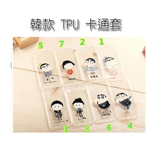 韓款TPU軟套Apple IPhone 5 / 6 / plus 蠟筆小新 櫻桃小丸子