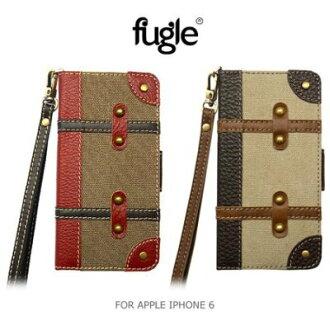 ~斯瑪鋒科技~Fugle APPLE IPHONE 6 4.7吋 旅行風保護套 可插卡皮套 側翻皮套 古典 復古 歐式