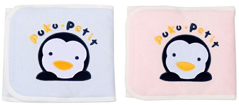 PUKU藍色企鵝 - 繡花肚圍 M (藍/粉) 1