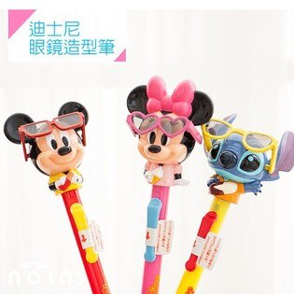 NORNS 【迪士尼眼鏡造型筆】大頭筆 原子筆 文具 米奇 米妮 史迪奇 按壓式 可動