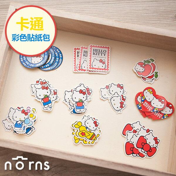 NORNS 【卡通彩色貼紙包 Hello Kitty】凱蒂貓 三麗鷗 拍立得 手帳 行事曆 裝飾貼紙
