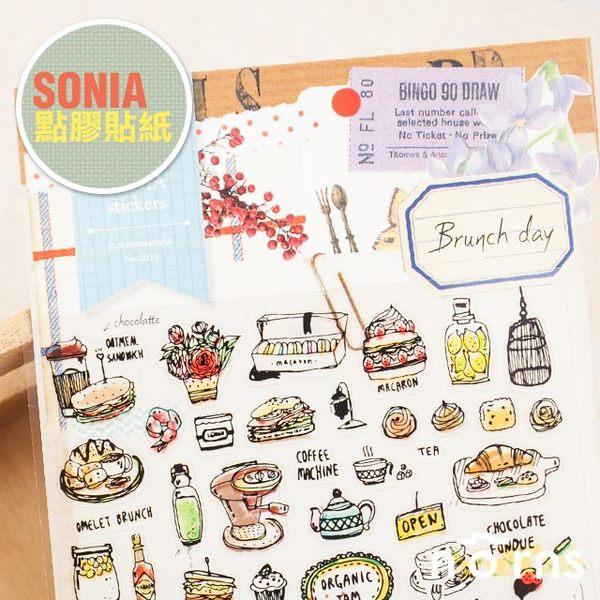 NORNS 韓國【SONIA Brunch day 貼紙】餐具 日記 手帳 行事曆 拍立得照片 裝飾貼紙