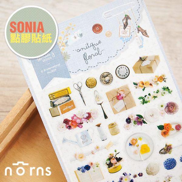 NORNS 韓國【SONIA Antique Floral 貼紙】古典 碎花 手帳 行事曆 拍立得照片 裝飾貼紙