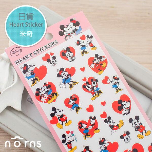 NORNS 【日貨Heart sticker-米奇】迪士尼 mickey minnie 拍立得 邊框貼 裝飾貼紙