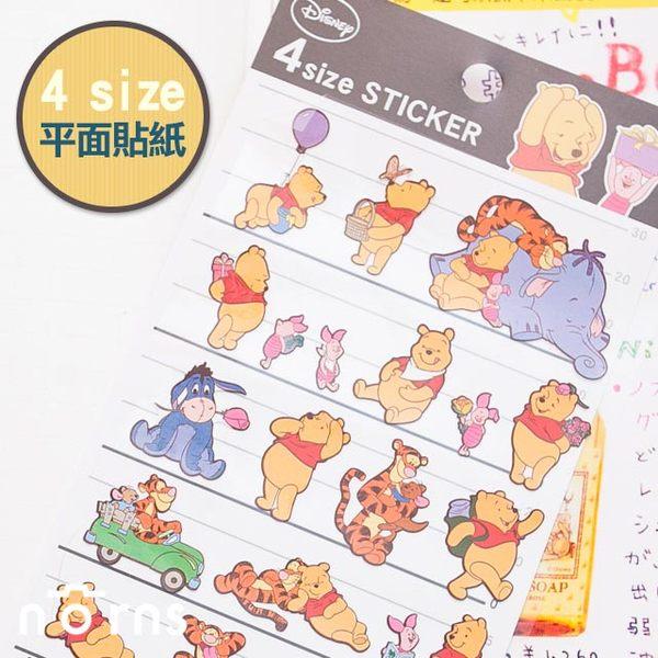 NORNS 【4size貼-小熊維尼】Winnie the Pooh 迪士尼 照片 行事曆 手帳 裝飾貼紙