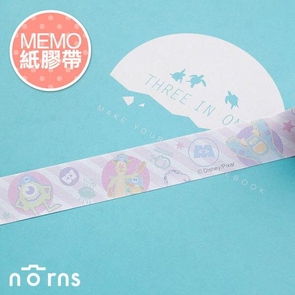 NORNS 【MEMO紙膠帶-怪獸大學泡泡】皮克斯 毛怪 大眼仔 筆記 留言 裝飾貼紙