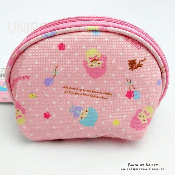 【UNIPRO】三麗鷗授權 雙子星 Little Twim Stars 粉點點夢幻帆布零錢包 小包 隨身包 印章包