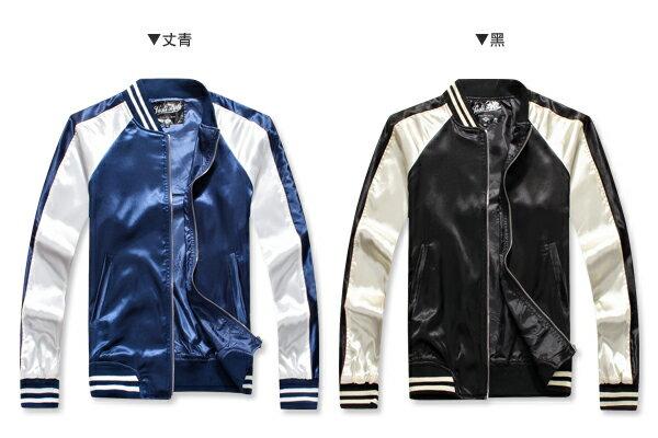 ☆BOY-2☆【PPK88027】韓版街頭緞面質感棒球外套 3