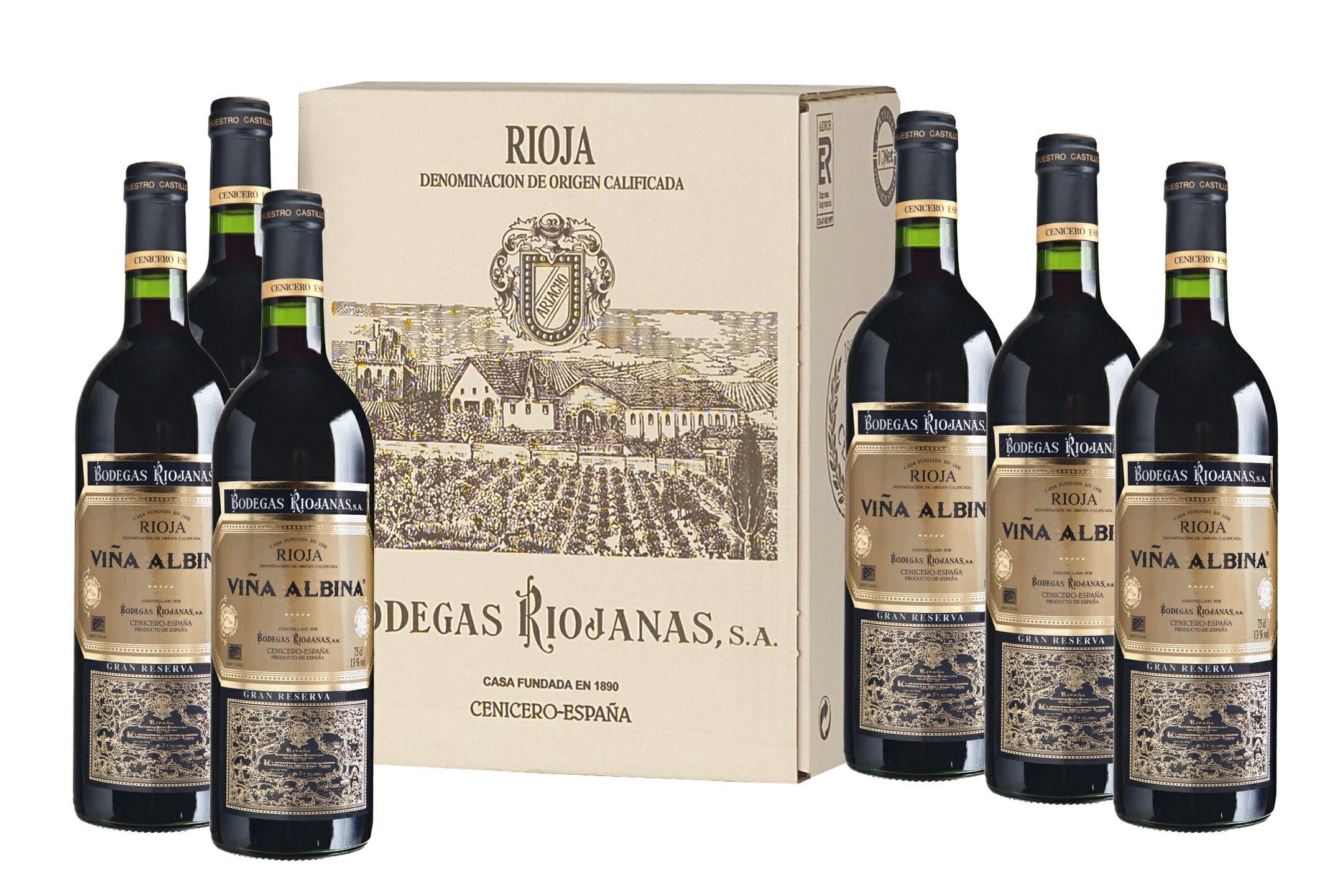 Caja de 6 botellas vino Viña Albina Gran reserva 2007 D.O. Rioja 1