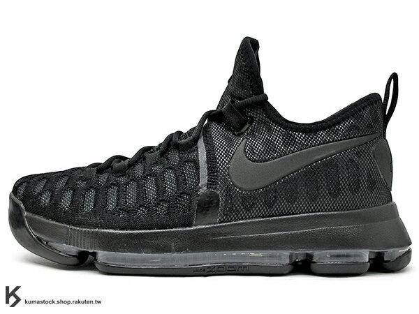 2016 得分王 雷帝 NIKE ZOOM KD 9 IX EP BLACK SPACE 全黑 黑 FLYKNIT 襪套包覆鞋面 AIR KD 5 35 (844382-001) 1016