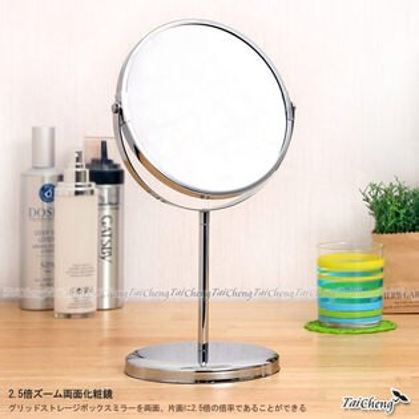桌上鏡|日本MAKINOU維納斯夢幻聚焦雙面立鏡-台灣製|化妝鏡 美容鏡 牧野丁丁MAKINOU