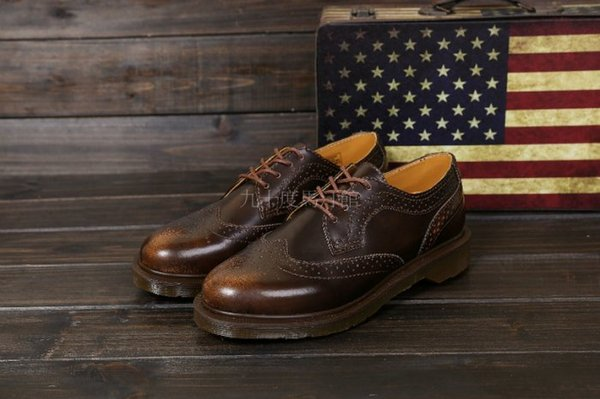 【九十度馬丁管】【兩日到貨】【免運】【4孔棕色】【牛津鞋】Dr. Martens馬丁馬汀靴子