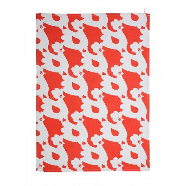 《法國 La Cocotte Paris》Red Nordic Chick Tea Towel 茶巾 2