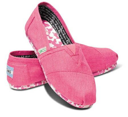 TOMS  EARTHWISE PINK  女 經典撞色拼湊平底鞋 桃色 現貨+預購