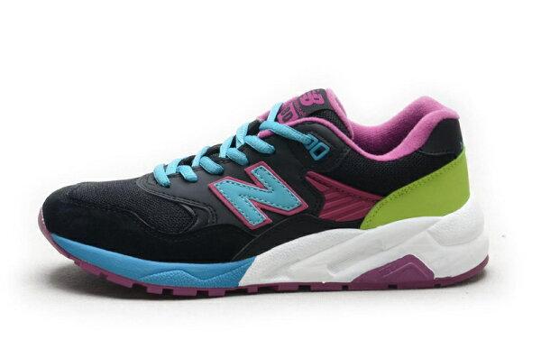 NEW BALANCE 580運動休閒鞋慢跑鞋子黑月紫黃女鞋