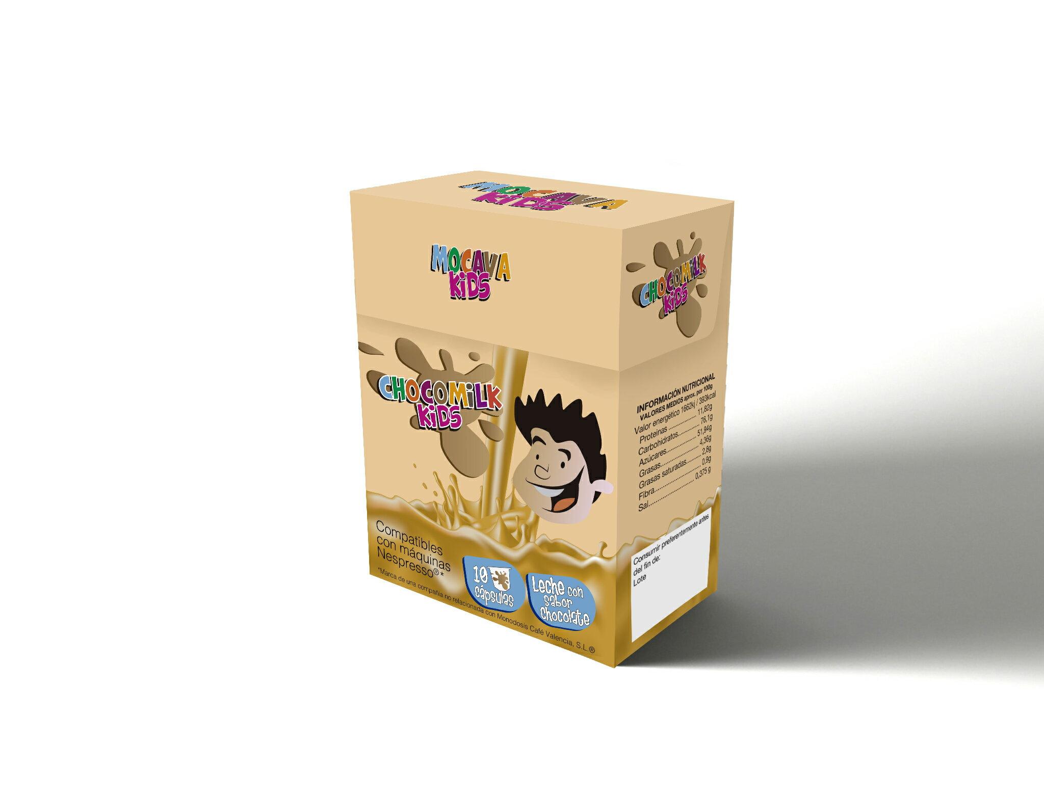 Pack 120 cápsulas CHOCO MILK KIDS compatibles con Nespresso 0