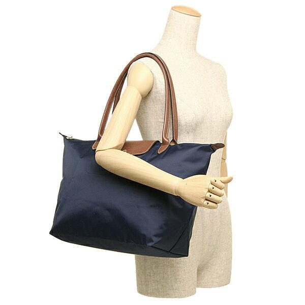 [長柄M號]國外Outlet代購正品 法國巴黎 Longchamp [1899-M號] 長柄 購物袋防水尼龍手提肩背水餃包 海軍藍 4