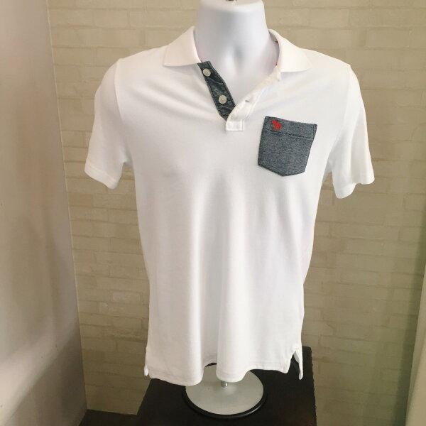 Abercrombie&Fitch 灰色口袋POLO衫