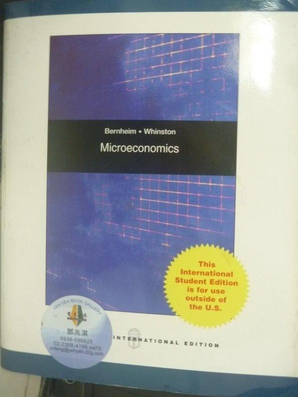 ~書寶 書T9/大學商學_PLA~Microeconomics_B. Douglas ~