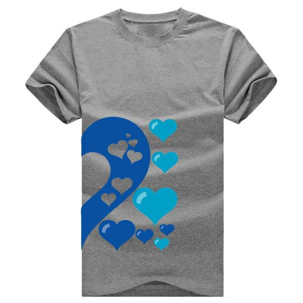 ◆快速出貨◆獨家配對情侶裝.客製化.T恤.最佳情侶裝.獨家款.純棉短T.MIT台灣製.藍色簍空愛心【Y0021】可單買.艾咪E舖 8