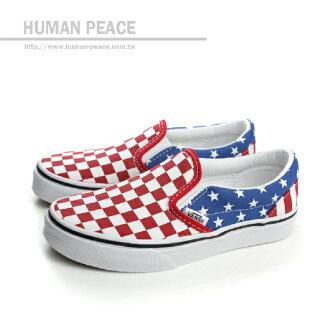 VANS Classic Slip-on 懶人鞋 紅/白/藍 中童 no399