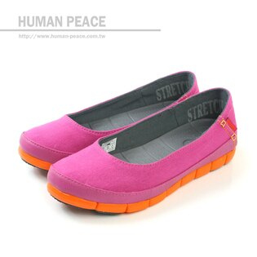 Crocs 天然樹脂 防水 帆布 休閒 舒適 好穿脫 戶外休閒鞋 粉/橘 女款 no171
