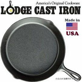Lodge/9吋經典鑄鐵平底鍋/23cm 鑄鐵鍋/荷蘭鍋/煎鍋 Skillet 美國製 L6SK3/台北山水