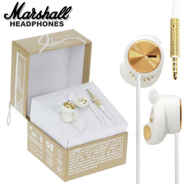 【非凡樂器】『新款Marshall Minor專利耳塞式耳機有線控』時尚白 承襲經典Marshall擴大器