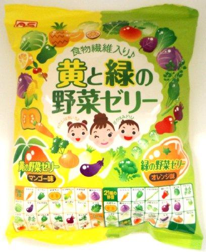 有樂町進口食品 日本原裝進口 AS 蒟蒻果凍-黃綠蔬果果凍 4905491257932 0