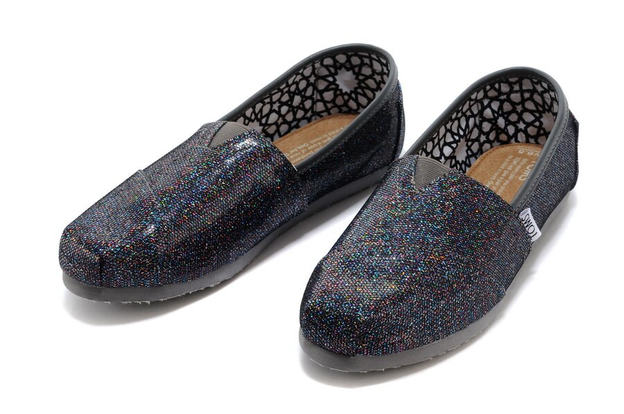 【TOMS】經典亮片款平底休閒鞋(七彩黑色)  Authentic Multi Glitter Women's Classics 3