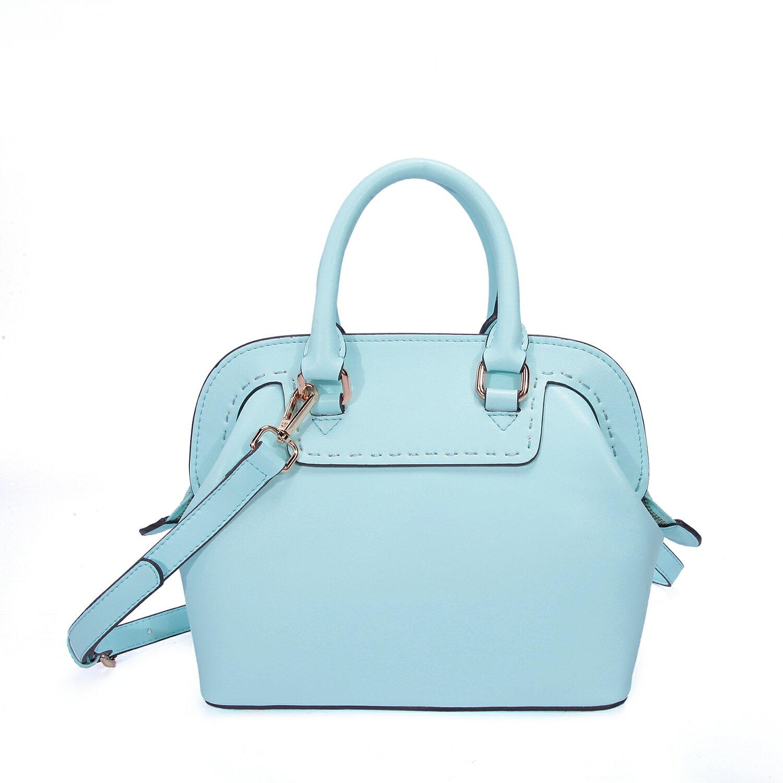 【BEIBAOBAO】繽紛馬卡龍真皮手提側背包(粉霧藍 共六色) 3