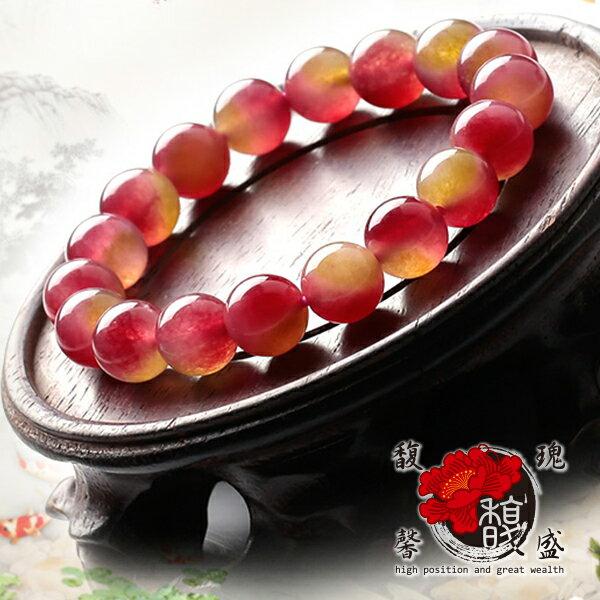 碧璽【西瓜美人手鍊】水晶 手鏈 粉色 桃紅 招桃花 增人緣  含開光 馥瑰馨盛NS0320