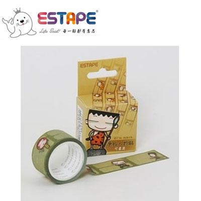 王佳膠帶 ESTAPE 馬克直拉式系列PM2537X原始人物貼/ 盒