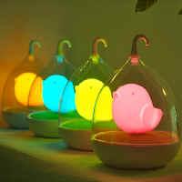 【 樂客生活 】小鳥籠隨手燈LED節能燈創意LED小夜燈床頭氛圍夜燈創意LED節能觸控 生日禮物贈品